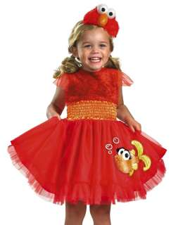 Girls Cute Elmo Dress Sesame Street Halloween Costume 039897248943