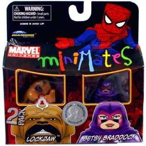 Exclusive Mini Figure 2Pack Lockjaw Betsy Braddock Toys & Games