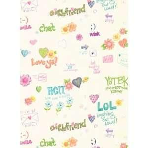 Instant Message Girls Wallpaper: Kitchen & Dining