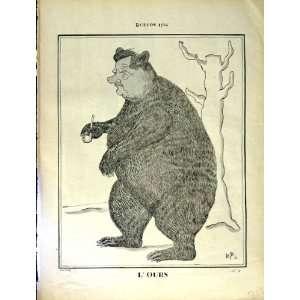 LE RIRE FRENCH HUMOR MAGAZINE BUFFON CARTOON BEAR MAN: Home & Kitchen