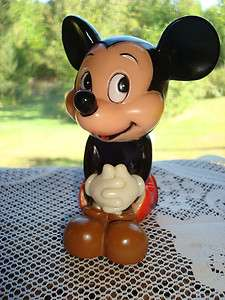Vintage Sitting MICKEY MOUSE Bank / Walt Disney Productions / KOREA