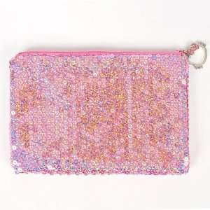 Hello Kitty Sequin Cosmetic Bag Tote Purse Pink Toys