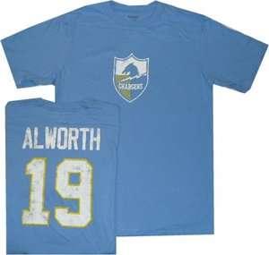 San Diego Chargers Lance Alworth Throwback Distressed T Shirt Medium