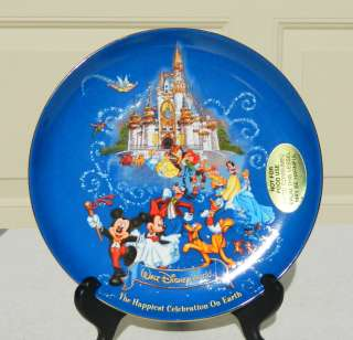 Mickey Mouse Walt Disney World The Happiest Celebration On Earth Plate