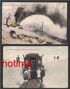 old postcards of SNOW SCENES on the MOFFET ROAD, COLORADO