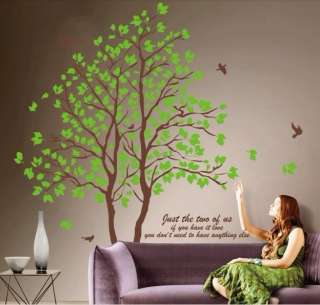 60X90CM Lovers Tree Removable Vinyl Decal Art DIY Home Decor Wall