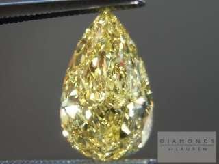 69ct Pear Shape Fancy Intense Yellow SI2 GIA Gorgeous R4422 Diamonds