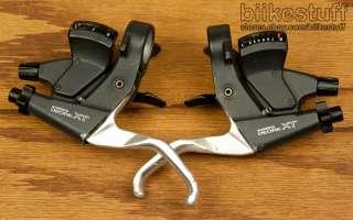 Shimano XT 3x8 Rapidfire Shiftlevers ST M739 Shifters V Brake