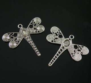 1Pcs Tibetan Silver Dragonfly Charms Pendants 52.5x59mm LA4274