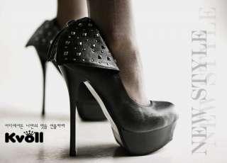 Ladys Platform Pumps High Heel Shoes Rivet Shoes New
