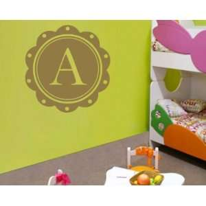 Letter a Monogram Letters Vinyl Wall Decal Sticker Mural Quotes Words