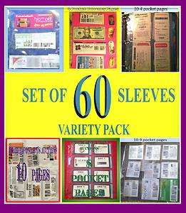 60 EXTREME COUPON BINDER PAGES / SLEEVES VARIETY PACK ORGANIZING
