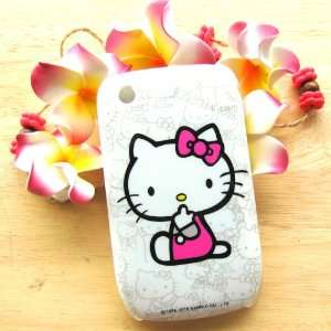 Hello Kitty pink dress sit down Hard Case Cover for Blackberry Curve