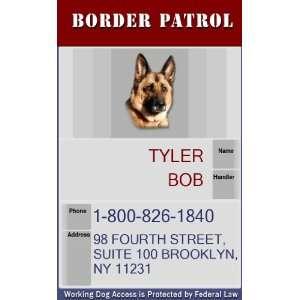 BORDER PATROL Badge   1 Dogs Custom ID Badge   Design#5