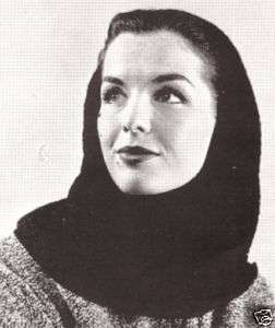 Vintage Crochet Draped Hood Head Cover Scarf Pattern