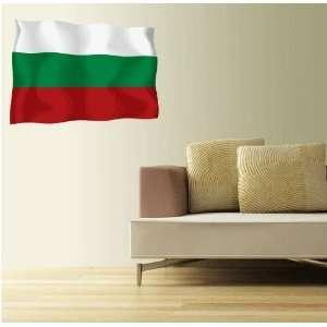 BULGARIA Flag Wall Decal Room Decor Sticker 25 x 18