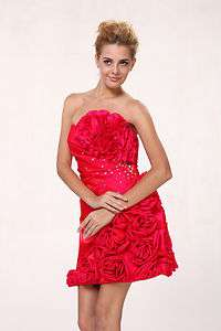 Hot Pink Evening Dress Prom Formal Cocktail Sweet 16 Dance Party Gown