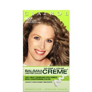 Balsam Lasting Color Creme Hair Color Light Ash Brown (607) Beauty