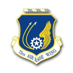 US Air Force 75th Air Base Wing Decal Sticker 3.8 6 Pack