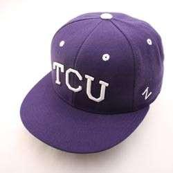 TCU TEXAS CHRISTIAN HAT CAP SLIDER 643 FTTD TCU DKPRP
