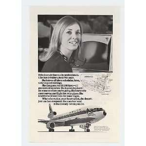 Reservationist Delta Airline DC 10 Print Ad (15062) Home & Kitchen
