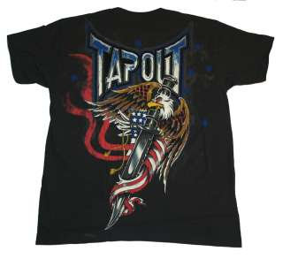 TapouT Florian The Spirit American Flag UFC MMA Distressed Flocked T