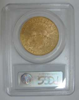 1904 US Liberty $20 Dollar Double Eagle Gold Coin PCGS MS62 UNC