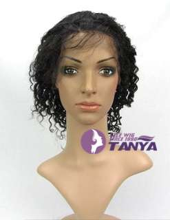 Jerry curl 100% Indian Remy Human Hair Full / Front Lace Wigs
