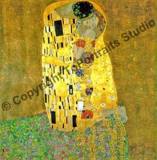 Gustav Klimt   The Kiss Reproduction Oil Art Painting