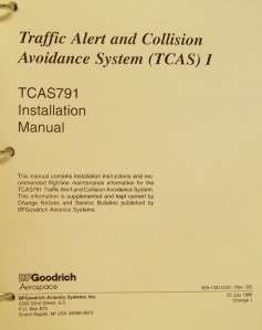 BF Goodrich TCAS 791 Installation Manual