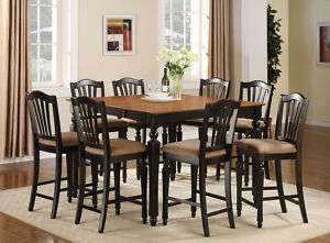PC COUNTER HEIGHT DINING ROOM SET TABLE 8 BAR STOOLS