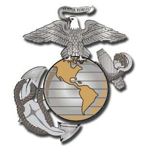 3.8 US Marine Corps Eagle Globe and Anchor Decal Sticker