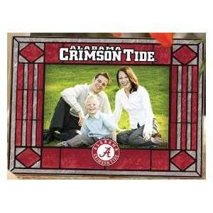 Alabama Crimson Tide Art Glass Horizontal Picture Frame