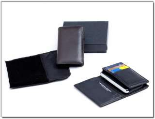 Genuine Leather Case Wallet For iPhone 3g 3gs 4g blackberry9700 plus