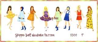 8357 Skipper Teen Doll wardrobe pattern Teen model Vintage 9 1/2