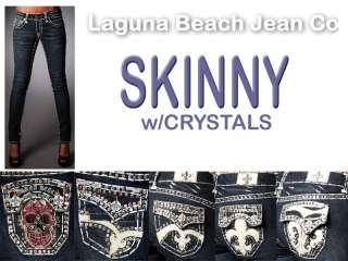 Laguna Beach Jeans Women 3rd Gen SKINNY Crystals