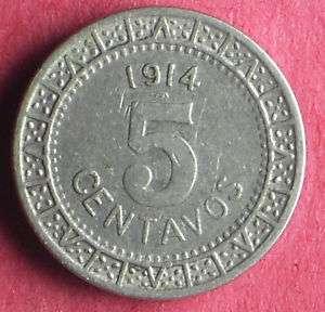 Mexico 1914 5 Centavos Great Mexican Coin