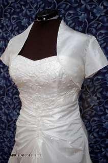 Lt Ivory Beaded Strapless Wedding Dress NWOT w Bolero