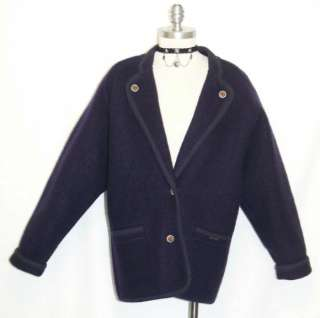 GEIGER ~ BOILED WOOL / PURPLE Women AUSTRIA Winter SWEATER Jacket Coat