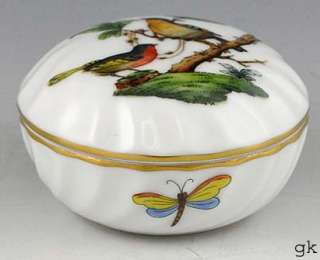 Beautiful Herend of Hungary Small Covered Jar Birds