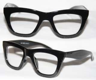 Glasses Thick Wayfarer Black Frame Medium Size Geek Retro Vintage 426