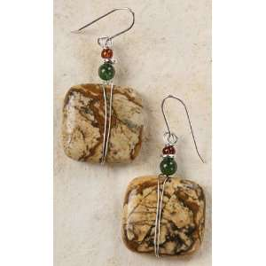Picture Jasper with Silver Wire Wrap: Curious Designs: Jewelry