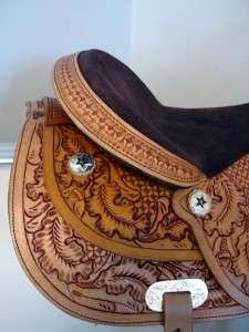 Western Pleasure Trail Reiner Star Show Saddle 16 MedO