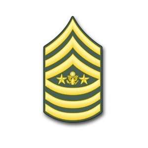 U.S. Army Sergeant Major of the Army Rank Insignia vinyl
