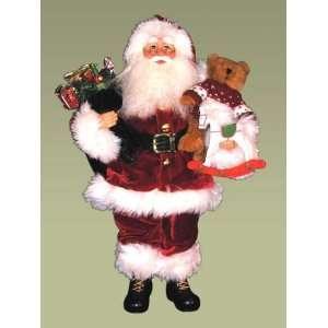 Karen Didion Originals 16 Heirloom Santa With Toy Bag