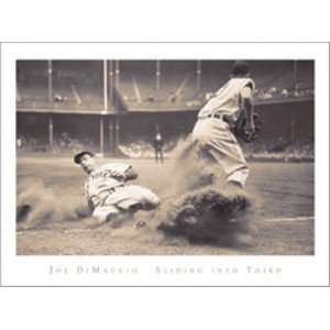Joe Dimaggio Sliding 32x24, Framed