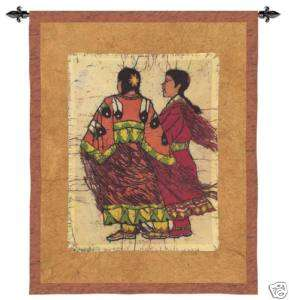 NATIVE AMERICAN INDIAN WOMEN ART WALL HANGING TAPESTRY