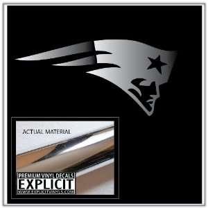 New England Patriots Large Chrome Vinyl Decal Everything