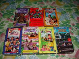 WEE SING VHS VIDEOS KIDS LOT WEESING WE SINGDOM SILLYVILLE MUSICAL