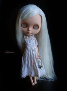 Melacacia Custom Blythe Doll ~ OOAK Rerooted Art Doll